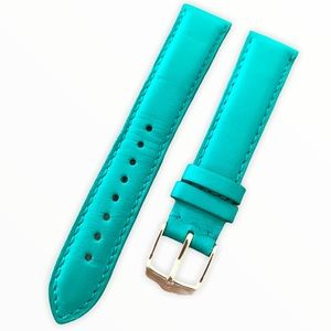 {Michele} leather watch strap- 18mm